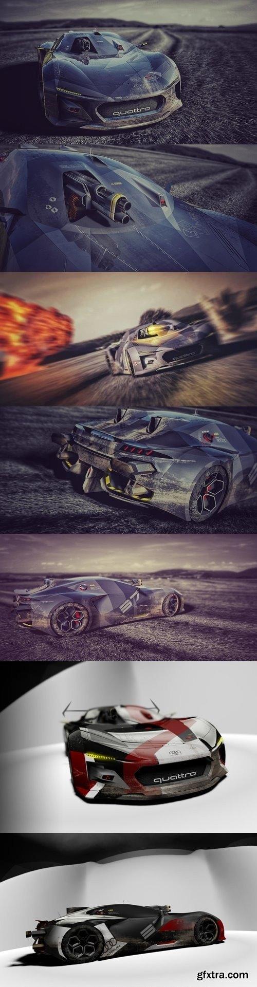 Audi Quattro Spectre BattleDrone Concept Car
