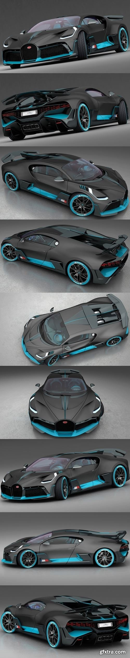 Bugatti DIVO 2019 3D Model