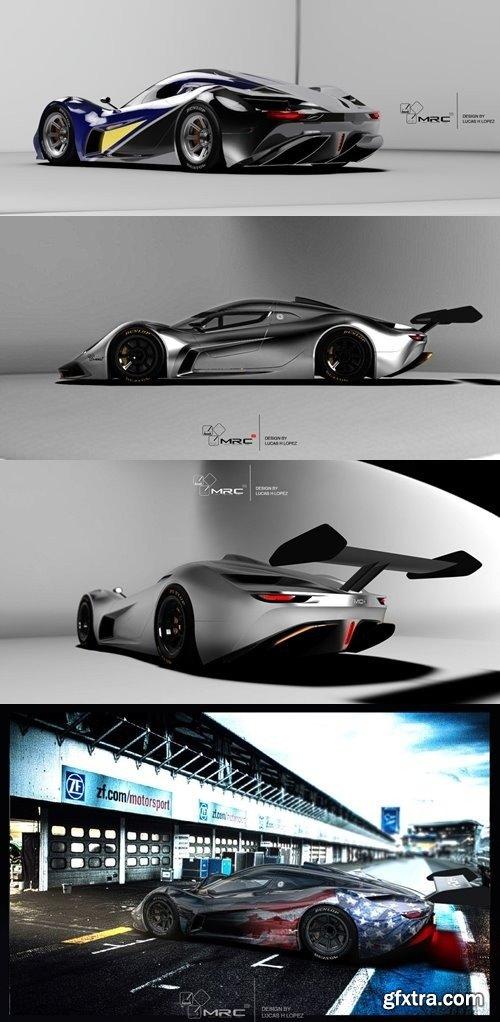 LeMans Racer Concept 3D Model