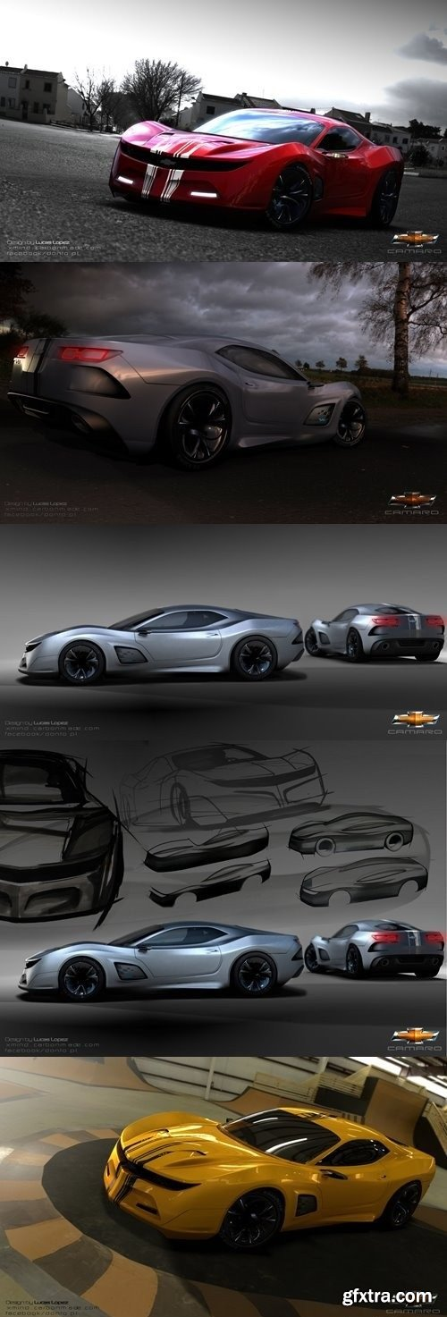 Camaro Concept Car 3D Model