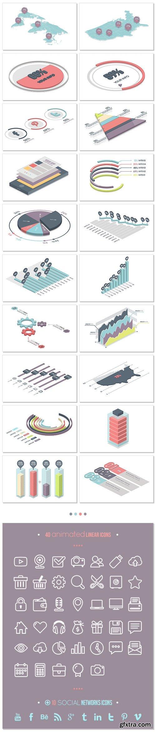 Videohive Isometric Infographics Bundle 19743356