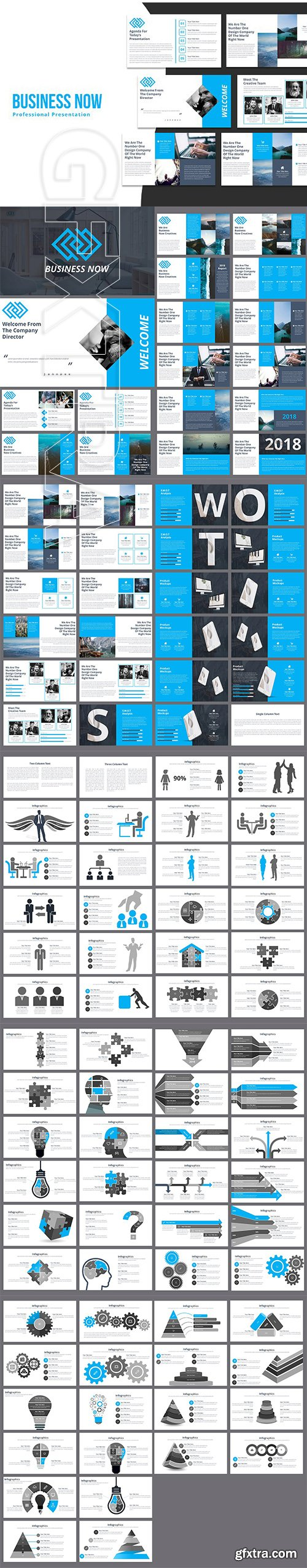 CreativeMarket - Business Now Powerpoint Template 2967679