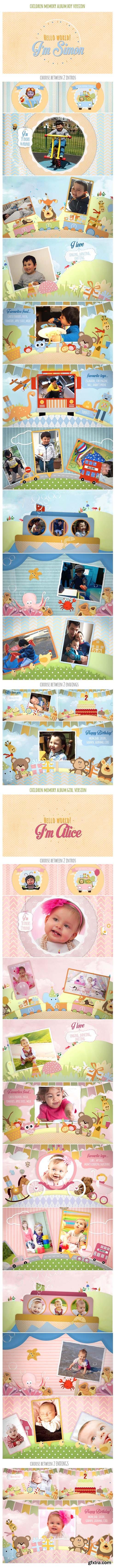 Videohive Children Memory Album And Birthday Invitation 11356837