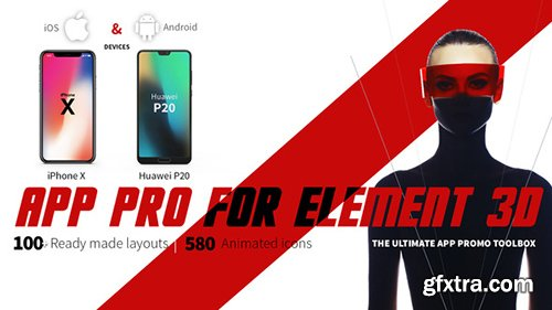 Videohive App Pro for Element 3D 22026827