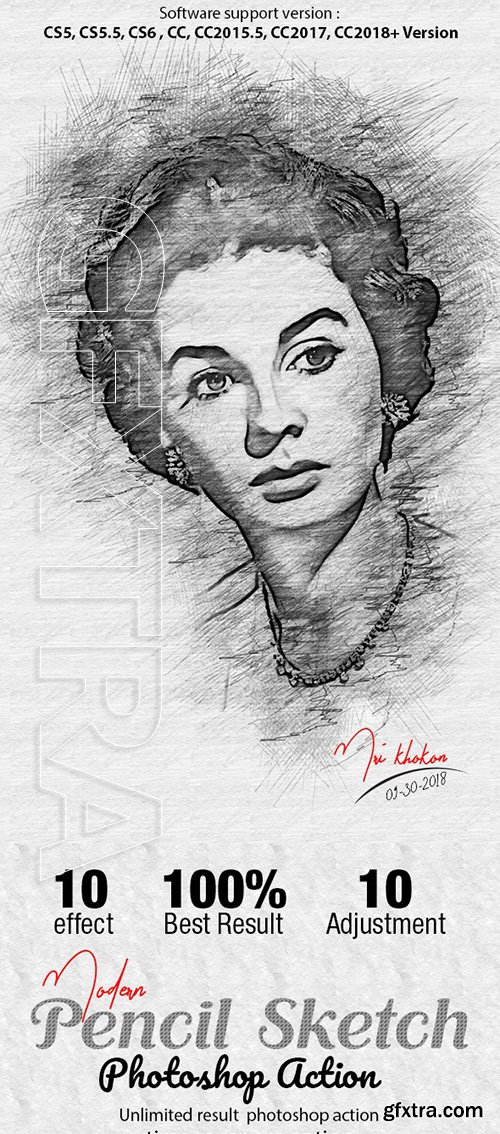 GraphicRiver - Modern Pencil Sketch Photoshop Action 22660813