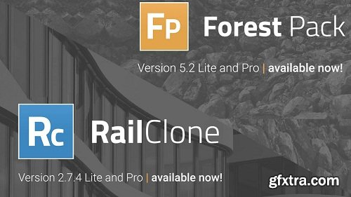 Itoo Software Forest Pack Pro + RailClone Pro 3.2 for 3DsMax 2012-2019