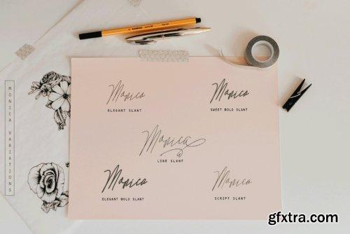 Monica Family Font Family - 10 Fonts