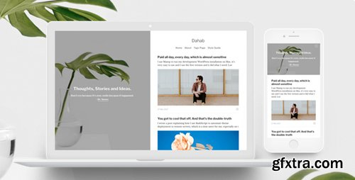 ThemeForest - Dahab v1.0.4 - Minimal Blog and Magazine Ghost Theme - 20366386