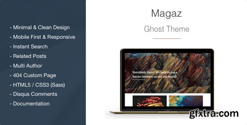 ThemeForest - Magaz v1.2.2 - Magazine and Multipurpose Clean Ghost Theme - 14907507