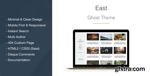 ThemeForest - East v1.2.1 - Blog and Multipurpose Clean Ghost Theme - 14714255
