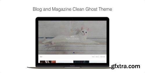 ThemeForest - Real v1.1.9 - Blog and Magazine Clean Ghost Theme - 17375799