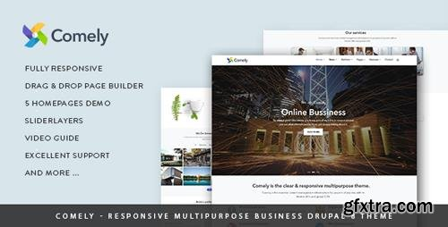 ThemeForest - Comely - Responsive Multipurpose Business Drupal 8.6 Theme (Update: 4 October 18) - 19938606