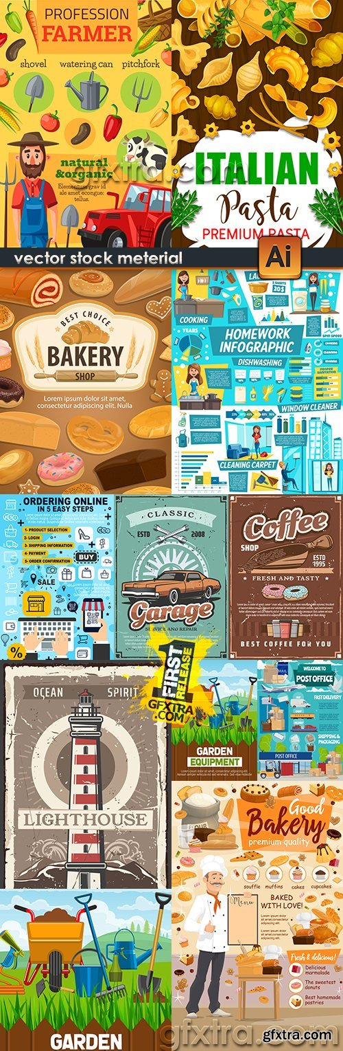 Retro illustration collection of vector sketches