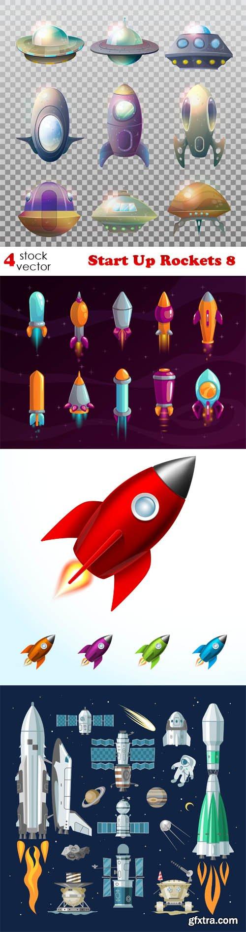 Vectors - Start Up Rockets 8