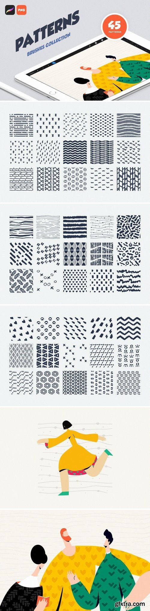 CM - Procreate Patterns: Brushes Set 3039089