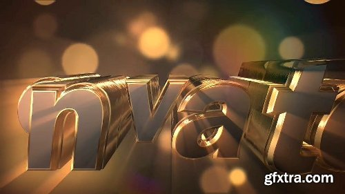 Videohive Gold & Silver Logo Text Reveal 8049605