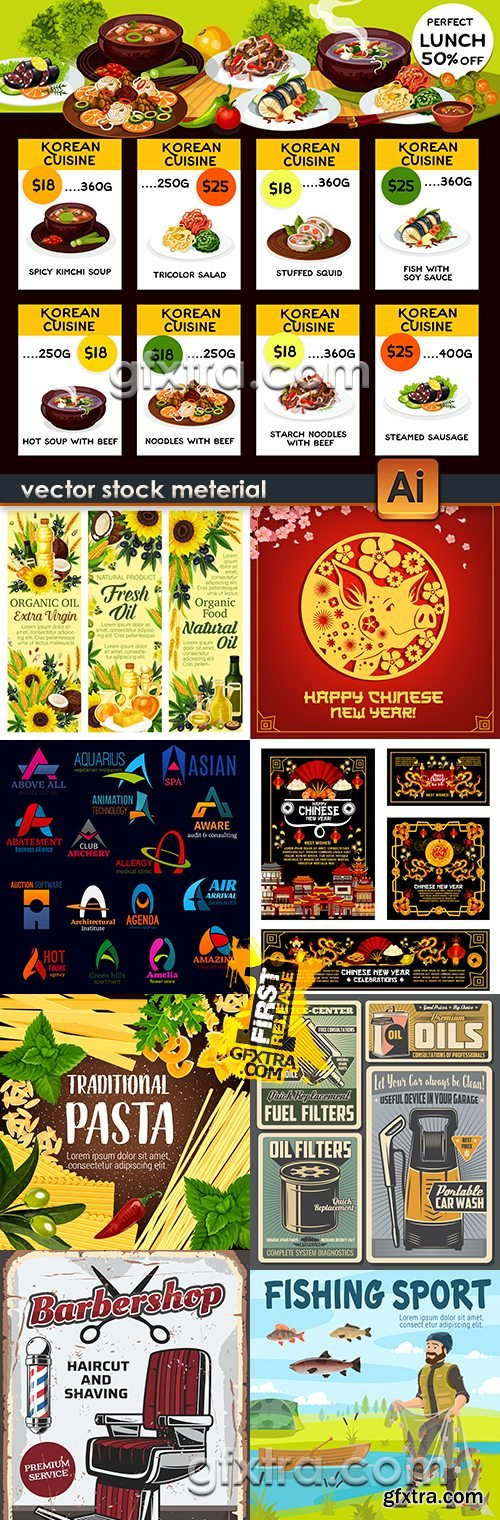 Modern big collection illustrations and elements design 45