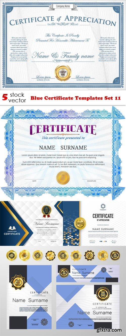 Vectors - Blue Certificate Templates Set 11