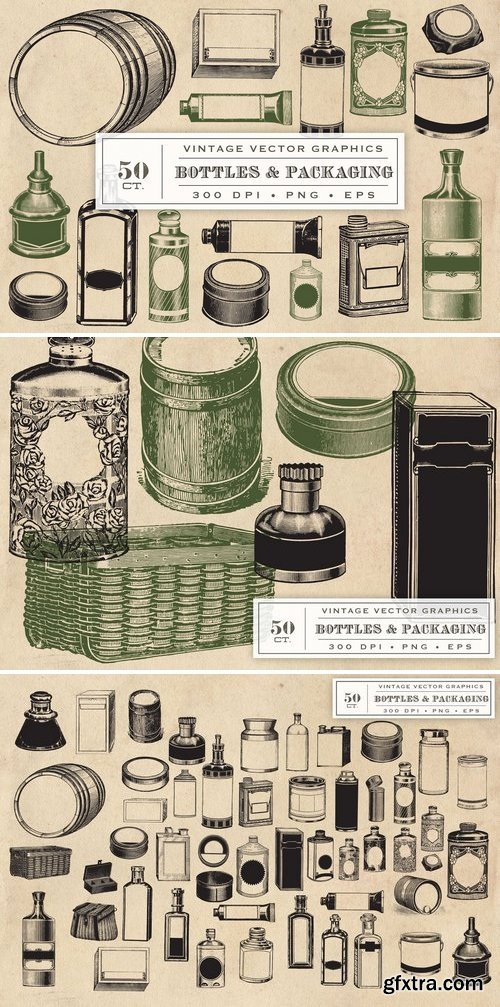 CM - Vintage Bottles & Packaging Graphics 1327349