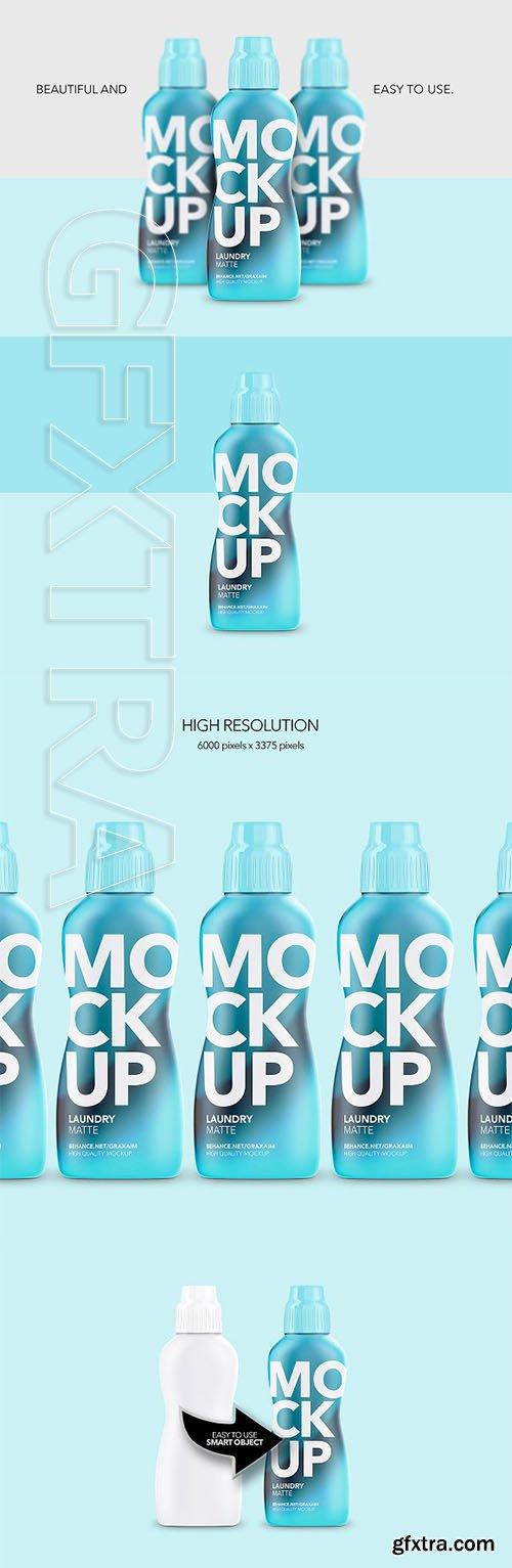 CreativeMarket - Laundry Softener Bottle Matte Front 2972038