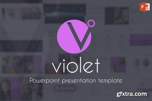 Violet - Powerpoint, Keynote, Google Sliders Templates
