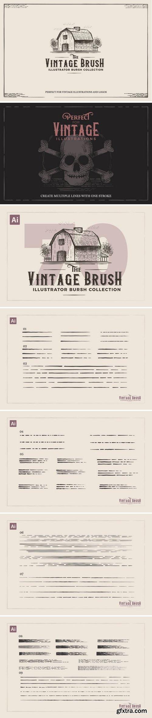 CM - Vintage Illustrator Brushes 3087342