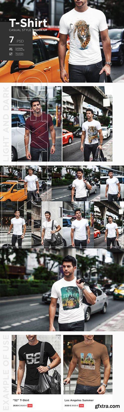 CreativeMarket - T-Shirt Mock-Up Casual Style 2978027