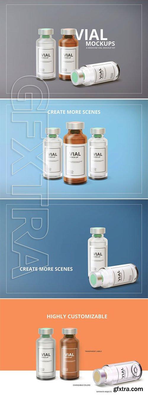CreativeMarket - Medicine Vial Mockup 2880603