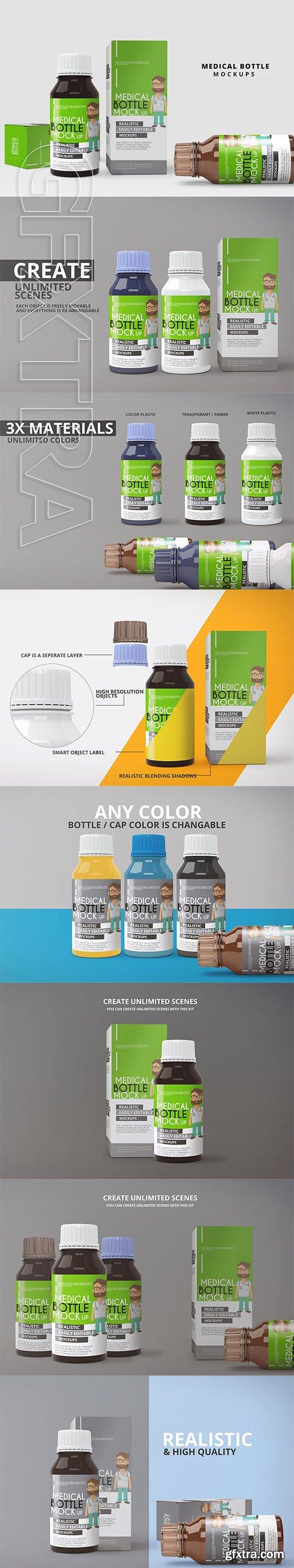 CreativeMarket - Medicine Bottle Mockup 2877153