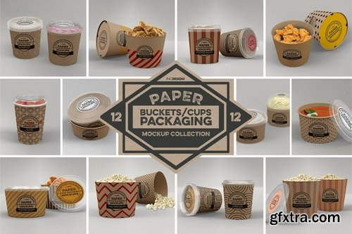 Paper Food Packaging Mockups Vol12
