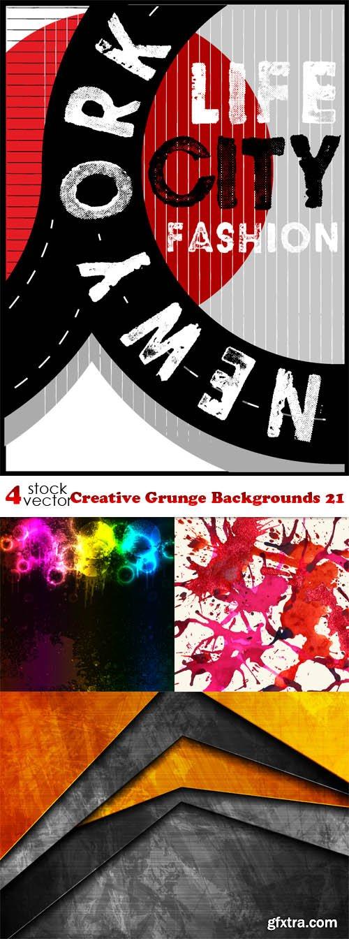 Vectors - Creative Grunge Backgrounds 21