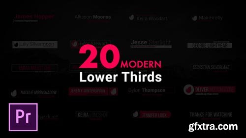 Videohive - Modern Lower Thirds For Premiere Pro - 21952287
