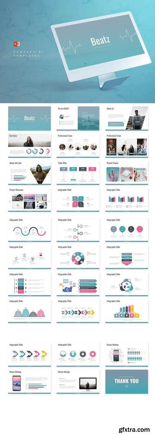 Beatz - Powerpoint, Keynote, Google Sliders Templates