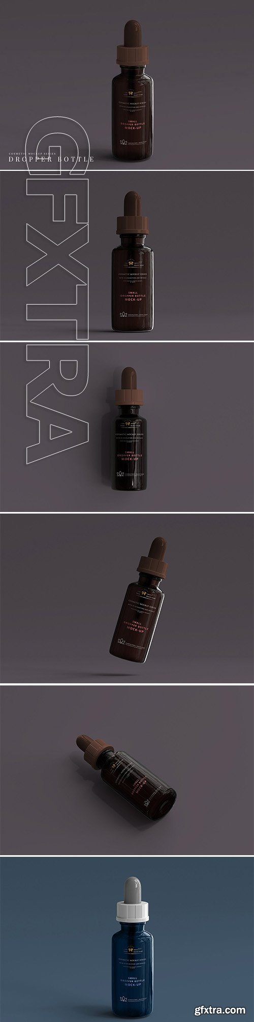 CreativeMarket - Amber Dropper Bottle Mockup 3069978