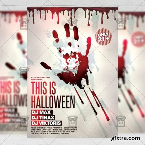 This is Halloween Flyer - Seasonal A5 Template
