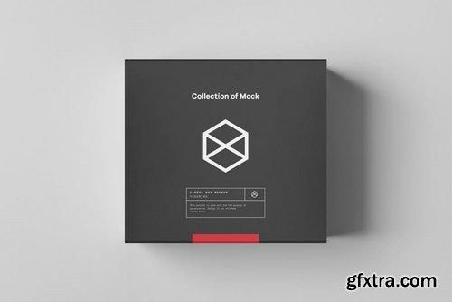Carton Box Mockup 95x85x42 & Wrapper
