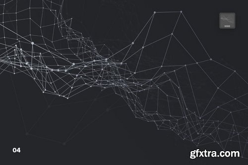Abstract Plexus Particles Photoshop Brushes