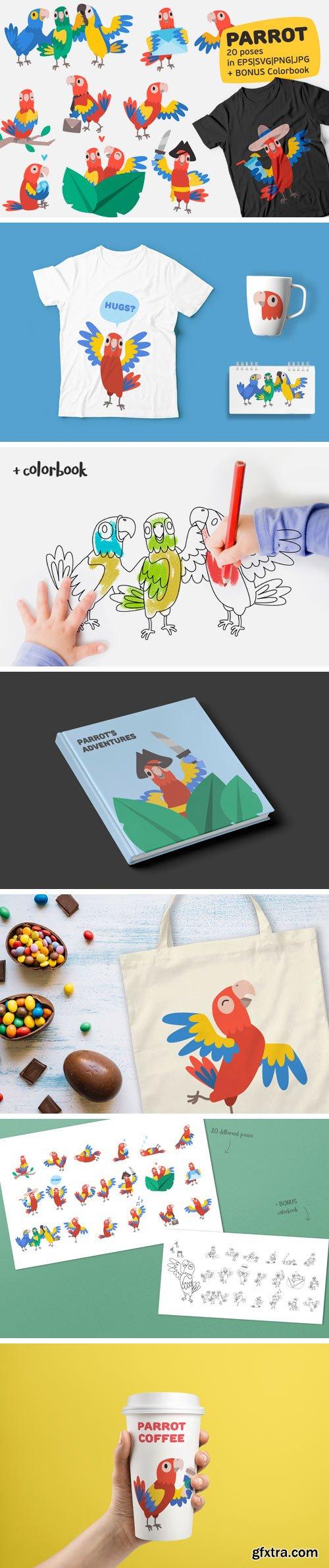 Designbundles - Parrot Bundle 102716