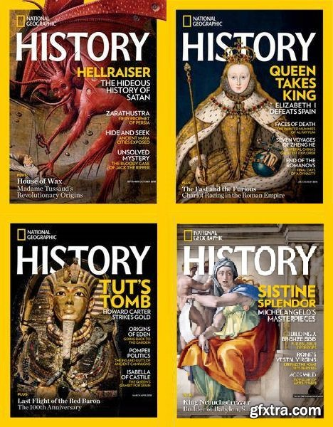 National Geographic History - 2018 Full Year Issues Collection
