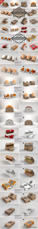 CreativeMarket - VOL.11 Food Box Packaging Mockups 2918568