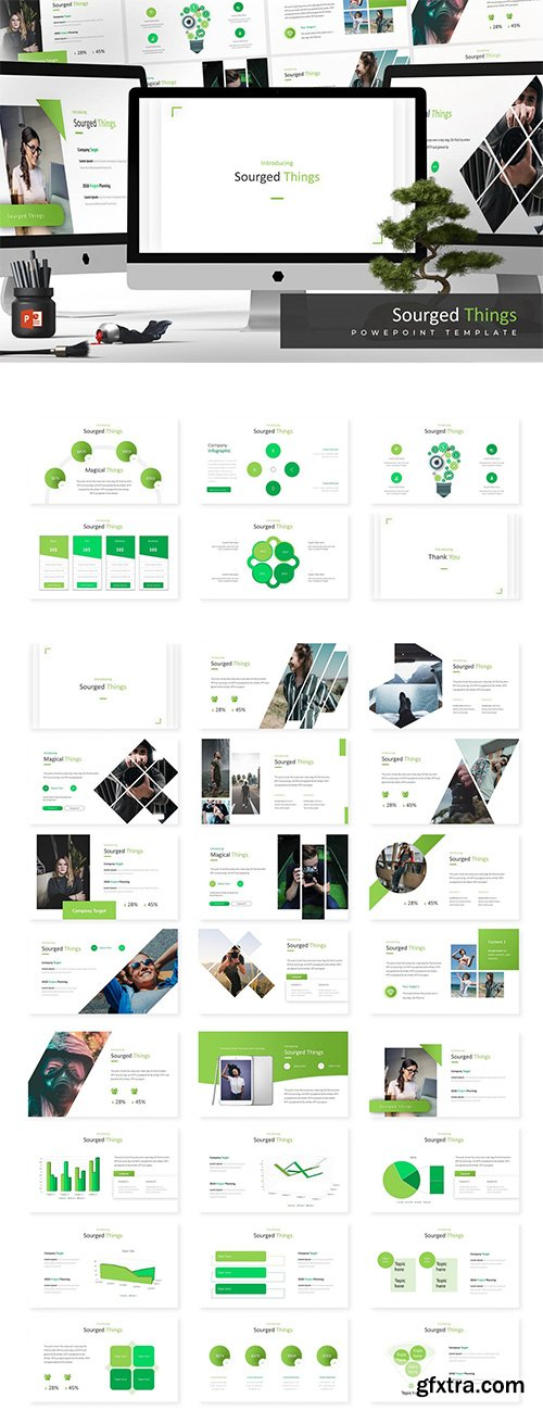 Sourged - Powerpoint, Keynote and Google Sliders Templates