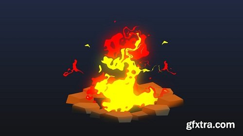 2D Animation of a Fire Pit in After Effects, Beginners Friendly