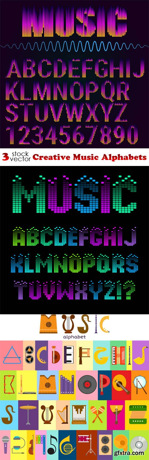 Vectors - Creative Music Alphabets