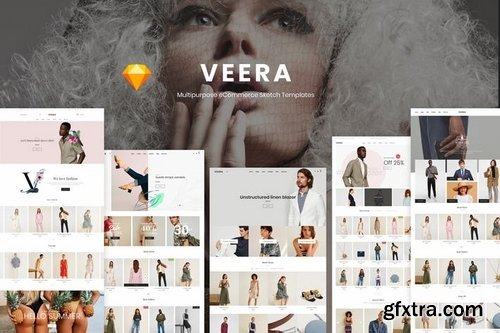 Veera - Multipurpose eCommerce Sketch Templates