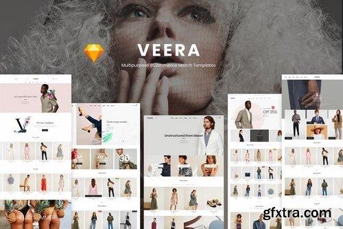Veera - Multipurpose eCommerce Sketch Templates