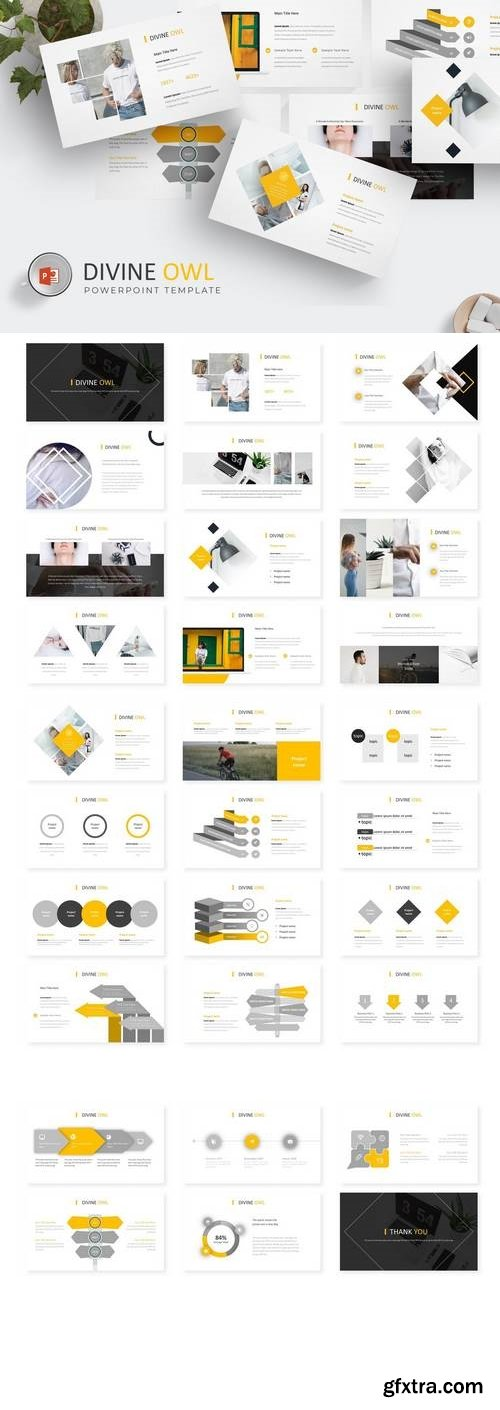 Divine Owl  - Powerpoint, Keynote, Google Sliders Templates