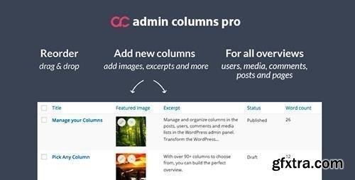 Admin Columns Pro v4.4 - WordPress Columns Manager + Add-Ons
