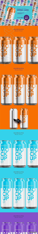 CreativeMarket - Drink Cans - Bundle Mockup 3060123
