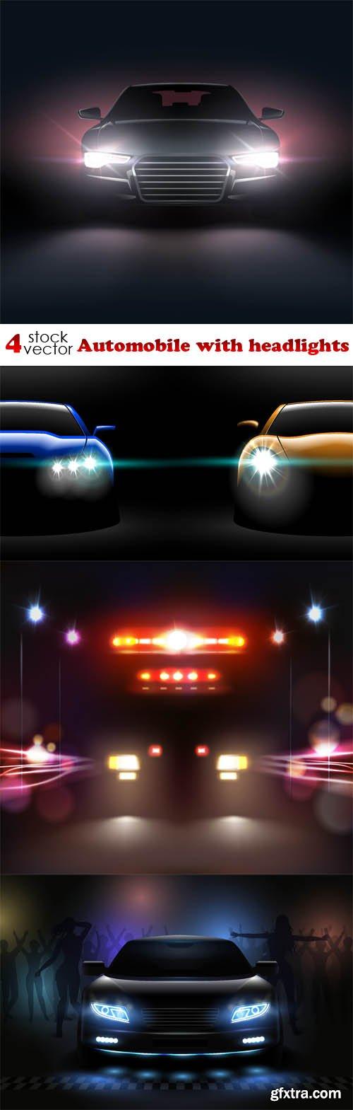 Vectors - Automobile with headlights