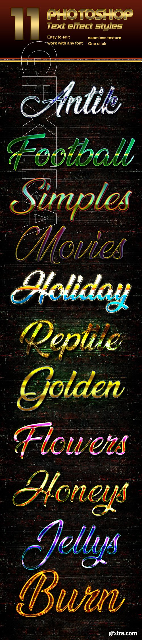 GraphicRiver - 11 Photoshop Text Effect Styles Vol 2 22685735